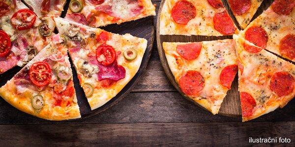 2 pizzy s rozvozem až k vám