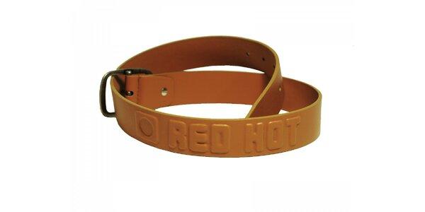 Stylový hořčicový pásek s nápisem Red Hot