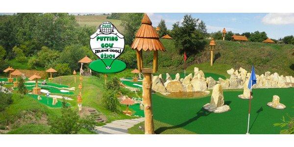 Zábavný minigolf na 36jamkovém hřišti vč. občerstvení
