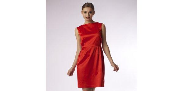 Dámské lesklé červené šaty Emploi