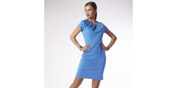 Dámské blankytně modré šaty Emploi