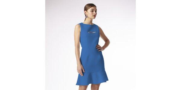 Dámské sytě modré šaty Emploi
