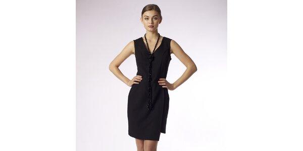 Dámské pouzdrové šaty s výstřihem do V Emploi