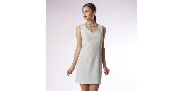 Dámské mentolové pouzdrové šaty s výstřihem do V Emploi