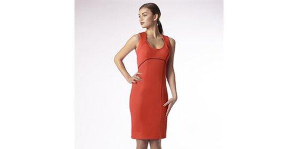 Dámské korálové pouzdrové šaty Emploi