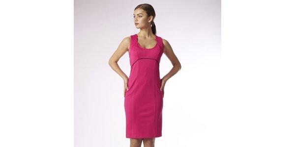 Dámské sytě růžové pouzdrové šaty Emploi