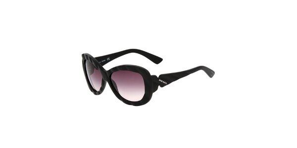 Dámské černé sluneční brýle Diesel