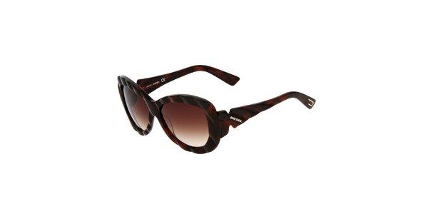 Dámské tmavě hnědé sluneční brýle Diesel