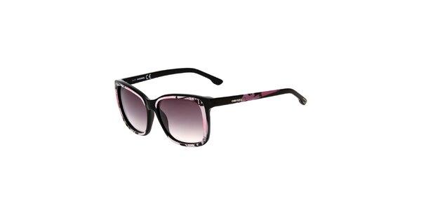 Dámské černo-růžové sluneční brýle Diesel