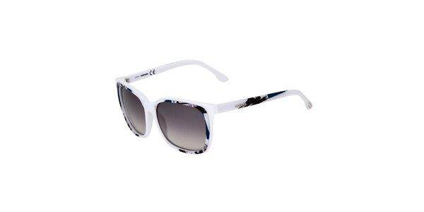 Dámské bílé sluneční brýle Diesel s potiskem