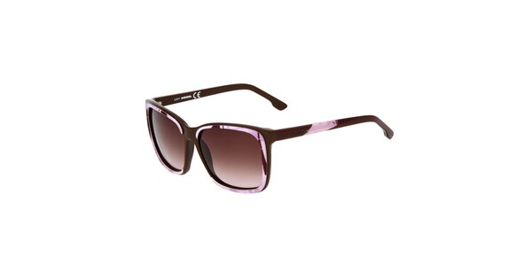 Dámské hnědo-růžové sluneční brýle Diesel