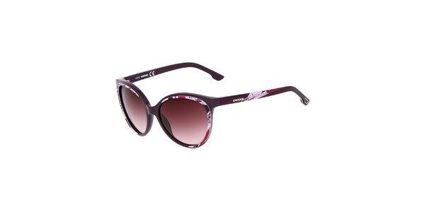 Dámské fialové sluneční brýle s potiskem Diesel