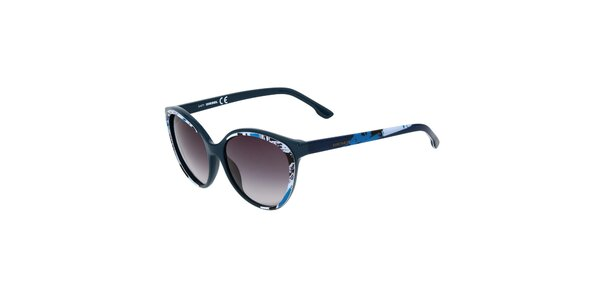 Dámské modré sluneční brýle s potiskem Diesel