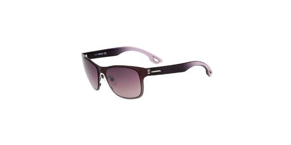 Dámské fialovo-černé sluneční brýle Diesel