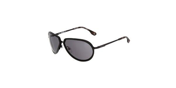 Dámské černé kovové sluneční brýle Diesel