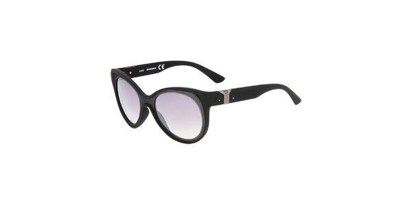 Dámské černé plastové sluneční brýle Diesel
