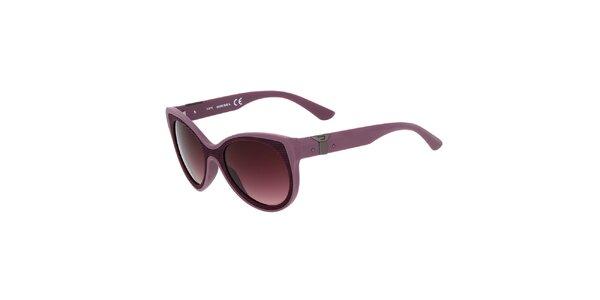 Dámské fialové plastové sluneční brýle Diesel