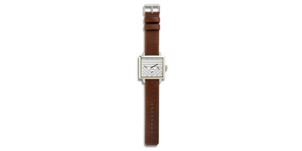 Dámské ocelové hodinky s hnědým koženým řemínkem a analogovým ciferníkem 666…