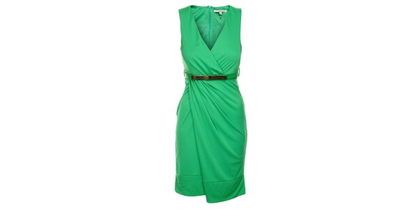 Dámské zelené šaty Lucy Paris s páskem