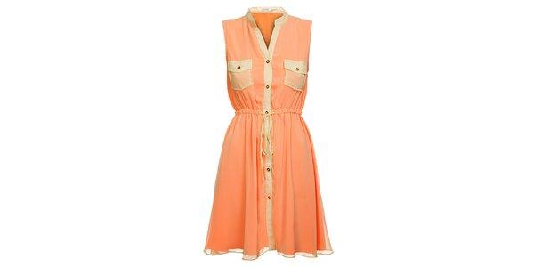 Dámské meruňkové šaty Lucy Paris