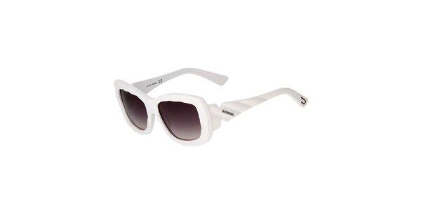 Bílé unisex sluneční brýle Diesel