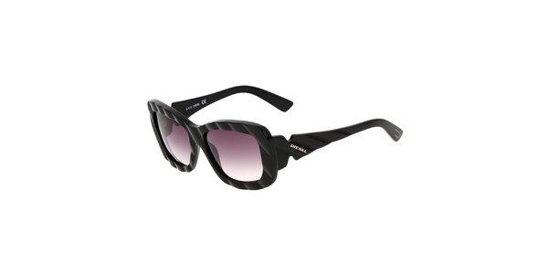 Černé unisex sluneční brýle Diesel