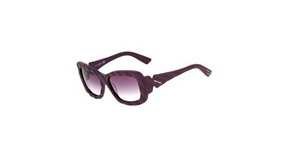 Fialové unisex sluneční brýle Diesel