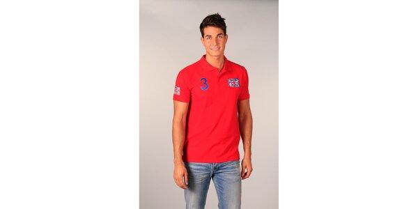 Pánské červené polo tričko s britskou vlajkou TH