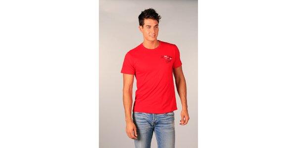 Pánské červené tričko s krátkými rukávy TH