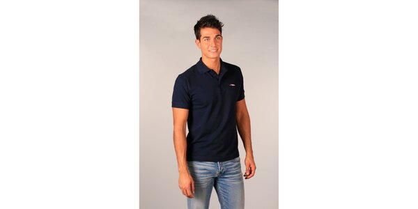 Pánské tmavě modré polo tričko TH
