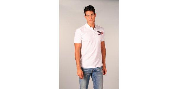Pánské bílé polo tričko s nápisy TH