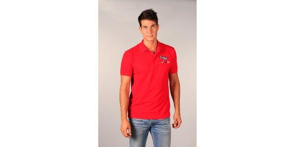 Pánské červené polo tričko od značky TH s nápisem