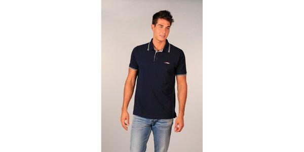 Pánské tmavě modré polo tričko značky TH