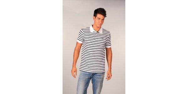 Pánské bílé pruhované polo tričko značky TH