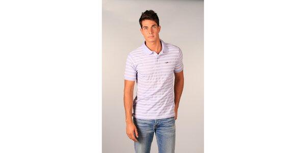 Pánské světle fialové pruhované polo tričko značky TH