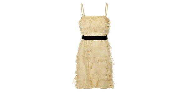 Dámské béžové charlestonové šaty Lucy Paris