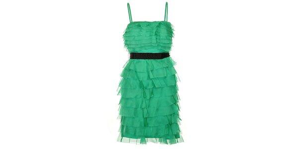 Dámské zelené charlestonové šaty Lucy Paris