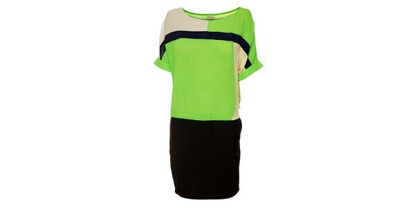 Dámské zeleno-černé šaty Lucy Paris