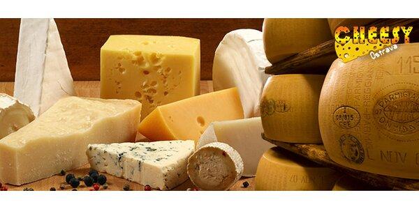 Výběr ze 6 druhů kravských ovčích i kozích sýrů