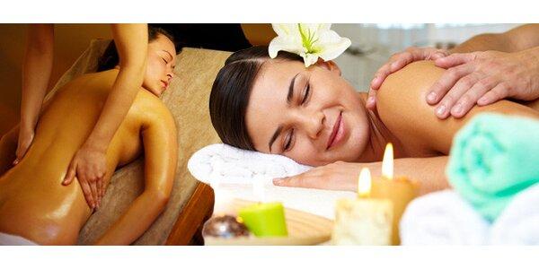 Exotické 60minutové masáže při relaxační hudbě