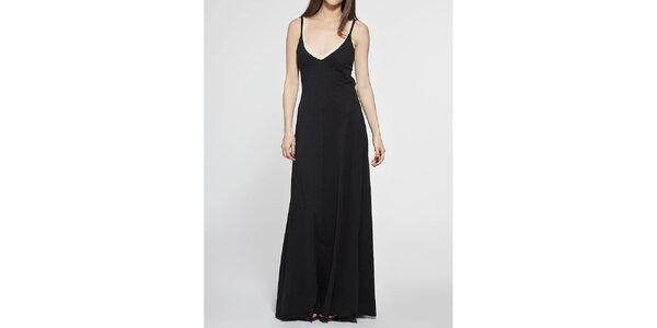 Dámské dlouhé černé šaty Diesel s prostřihy