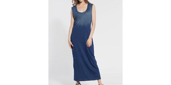 Dámské tmavě modré bavlněné šaty Diesel