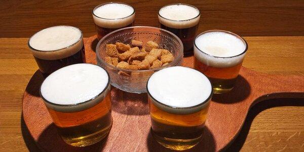 Půllitr piva nebo degustační pivní set