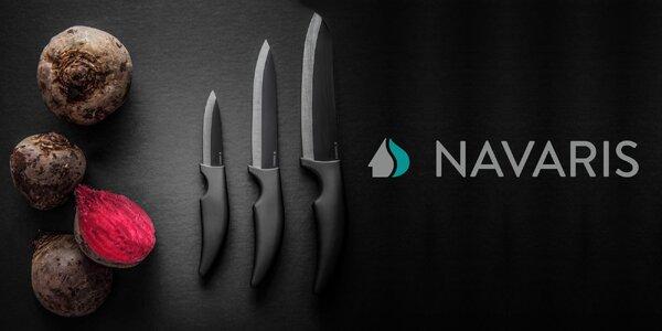 3 ostré keramické nože včetně škrabky Navaris