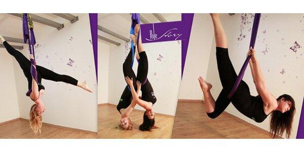 Lekce létající jógy - novinka pro dokonalé protažení těla