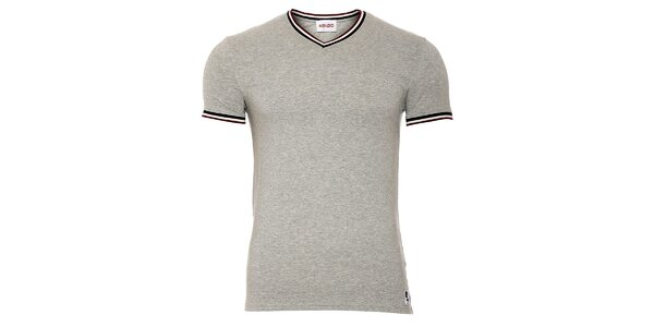 Pánské šedé tričko Kenzo s výstřihem do véčka