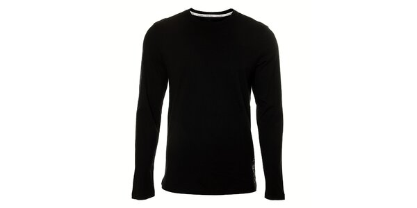 Pánské černé podvlékací tričko Calvin Klein s dlouhým rukávem