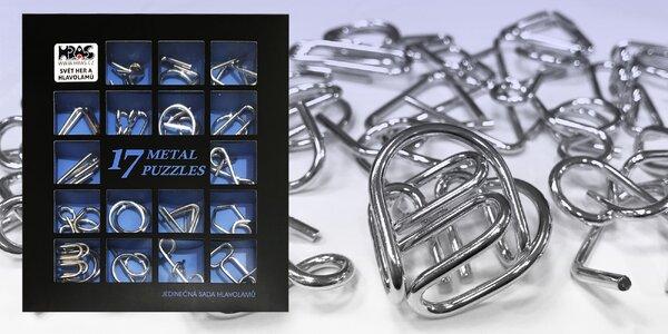 Sada 17 kovových hlavolamů pro malé i velké