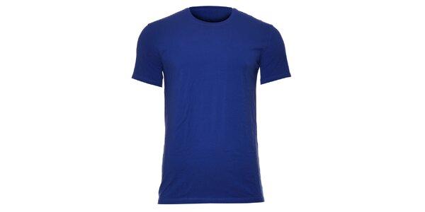 Pánské elastické triko Calvin Klein ve švestkové barvě