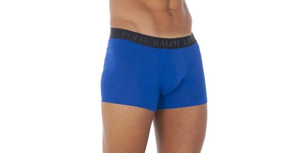 Pánské sytě modré boxerky Ralph Lauren s černým pasem